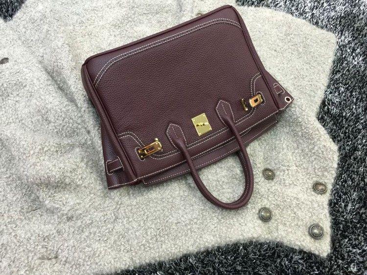 2016 Luxury H Handbag Women\`s Litchi Cowhide Messenger Bag Genuine Leather Famous Designer Shoulder Crossbody Totes Ladies Bolsa (3)