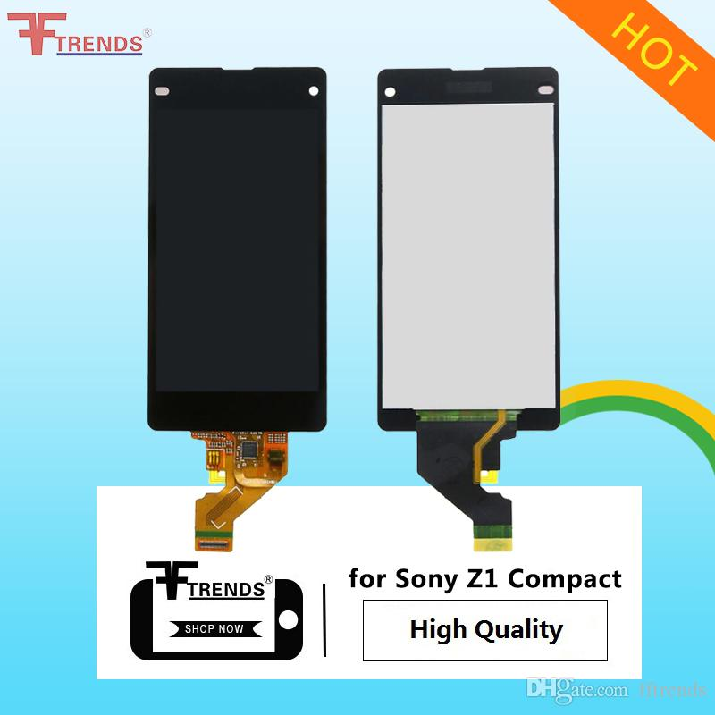 High Quality for Sony Z1 Compact / Z3 Compact / Z5 Compact LCD Display & Touch Screen Digitizer with/without Frame Black White 10pcs/lot