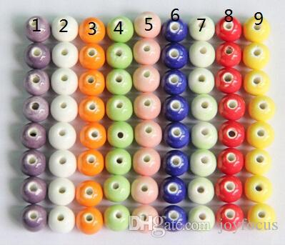 8mm Porcelain Beads, solid color,DIY accessories ceramic loose beads,round shape,sold per bag of 100 pcs