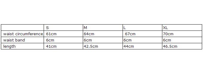 new size chart about skater skirt