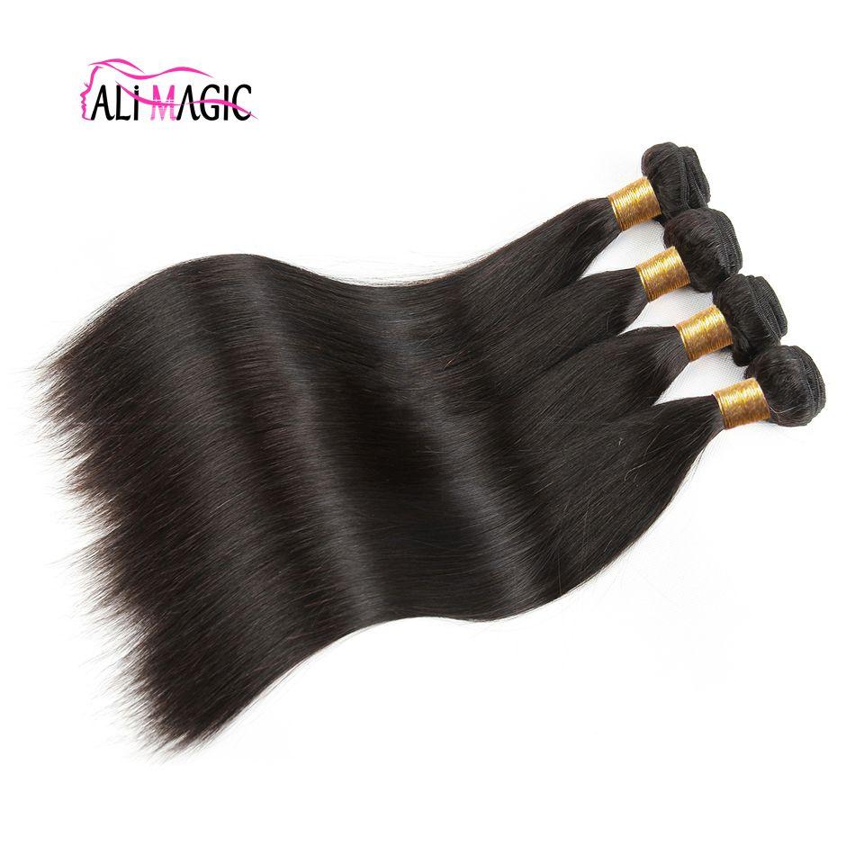 علي ماجيك مصنع بالجملة عالية الجودة الشعر اللحمة الجسم موجة الشعر الإنسان نسج مستقيم موجة عميق مجعد الشعر العذراء غير المجهزة طبيعة اللون