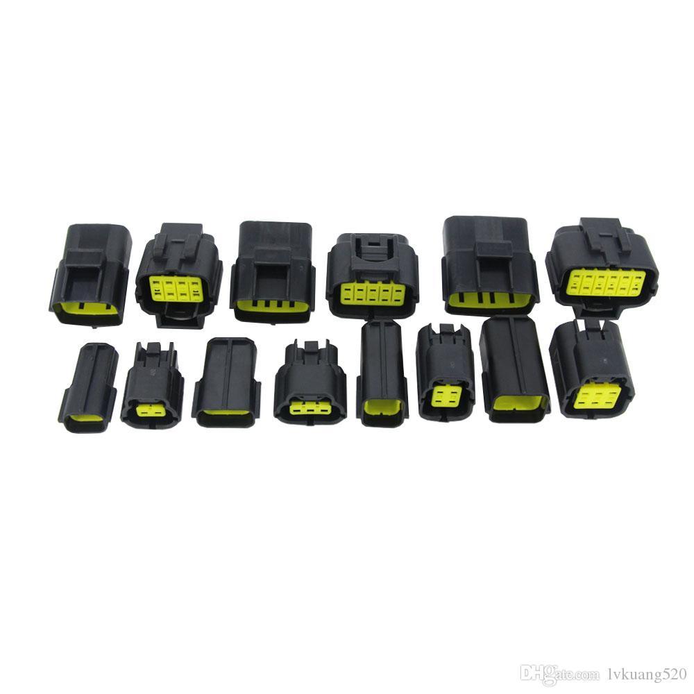 7 комплектов содержат (2 + 3 + 4 + 6 + 8 + 10P + 12P) для разъема DENSO 1.8 Мужской и женской пробки, автомобильные водонепроницаемые разъемы ксеноновой лампы