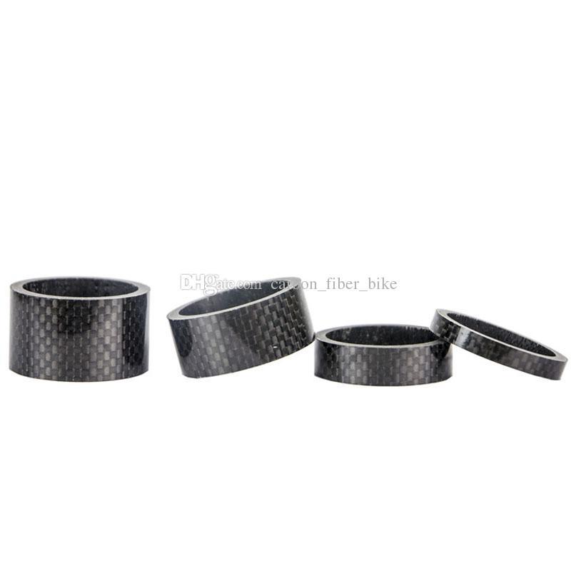 Spacer de carbono 1 conjunto 5/10 / 15 / 20mm espaçador 1 / 1.8 '' para headset de bicicleta de bicicleta caule