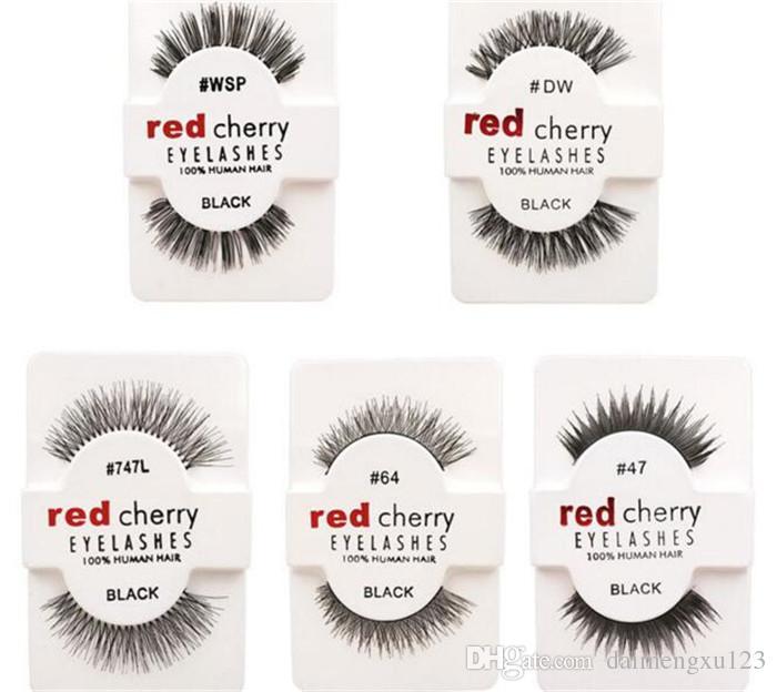 10 أنماط RED CHERRY الرموش الصناعية الرموش وهمية رموش طويلة والمجلد A105