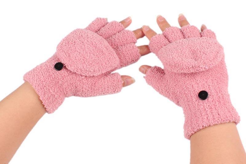 الجملة ، جديد شتاء أصابع جميل قفازات اليد المعصم القفازات الدافئة 1pair 6 ألوان