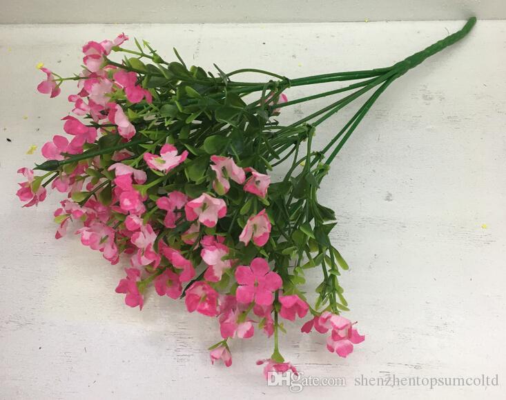 Decoração de casamento flores artificiais flores de seda Miosótis para decoração de casa