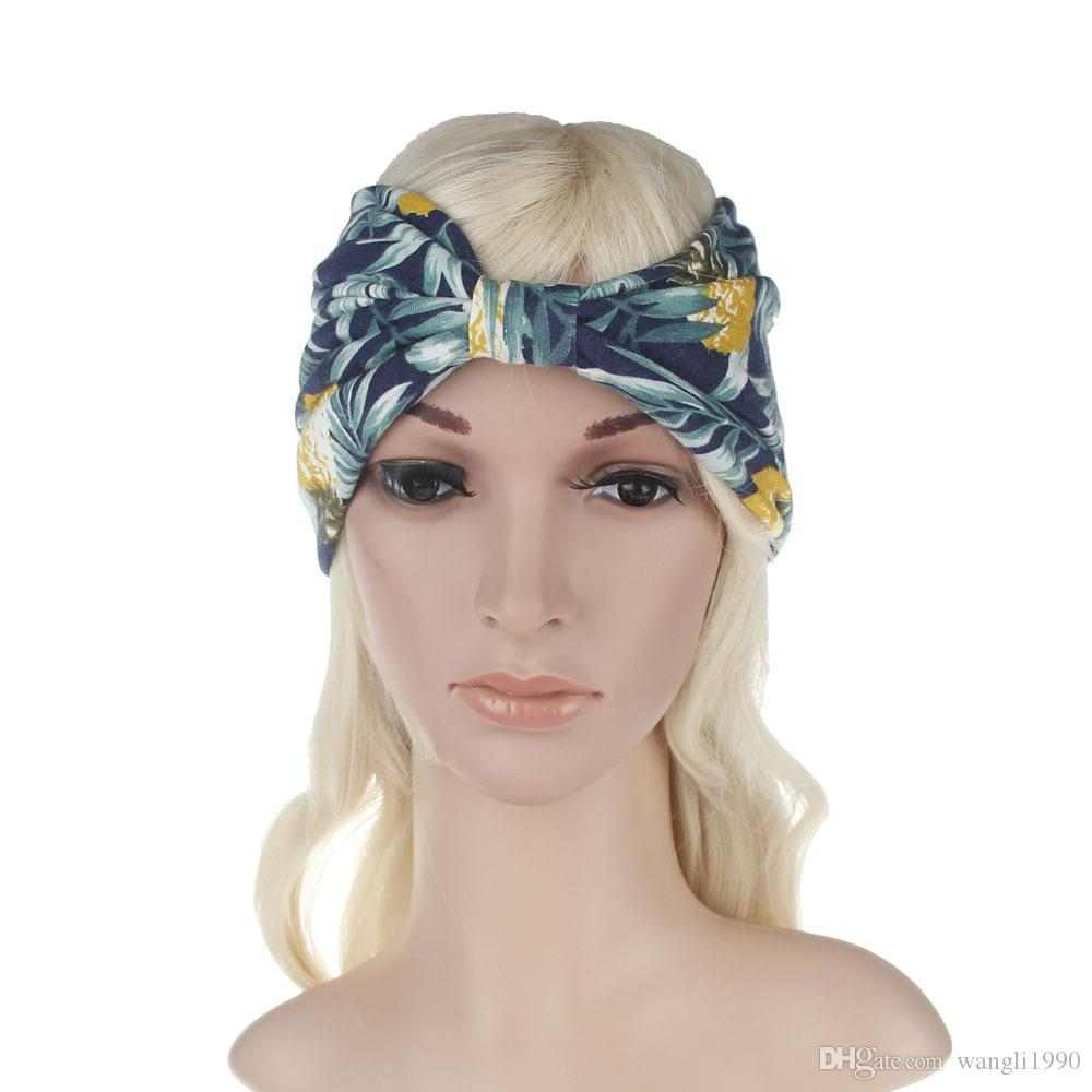 2018 2017 New Bohemian Style Floral Print Twisted Headband Womens ...