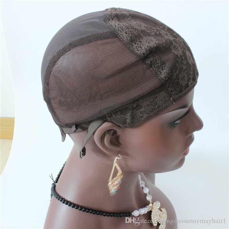 Bonnets de perruque juive S / M / L pour la confection de perruques 5pc / lot uniquement bonnet de tissage en dentelle extensible