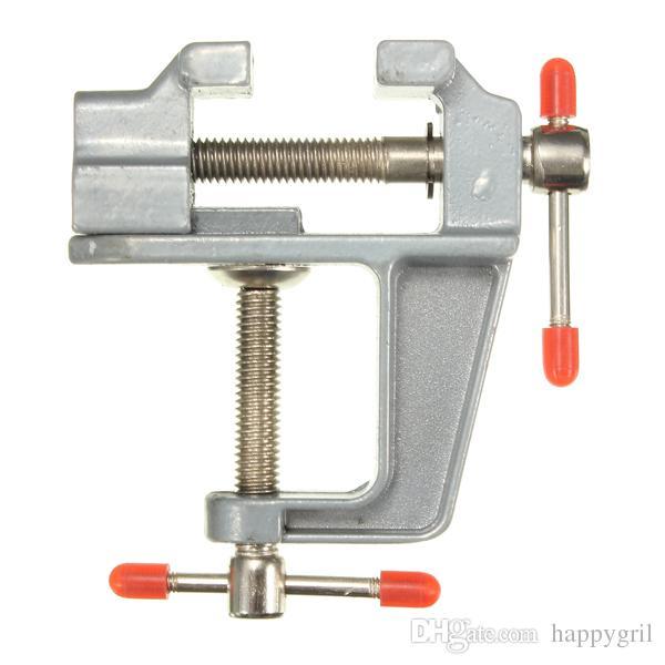 35 mm de aluminio en miniatura Tabla pequeño banco joyeros Hobby pinza en la herramienta Vise Vice durable de peso ligero