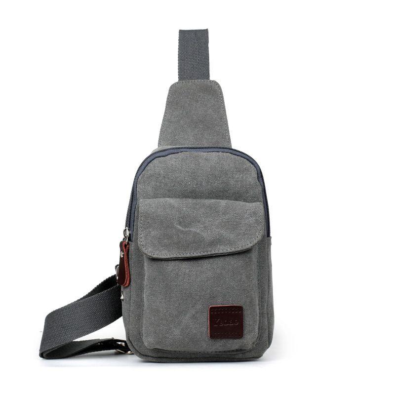 Sling Bag Chest Shoulder Backpack Fanny Pack Cross Body Men Army Green Fashion