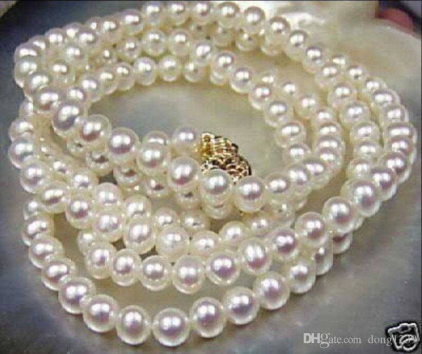 """NOUVEAU Beautiful! Collier de perles de culture Akoya blanc 8-9mm 25 """"AYP"""