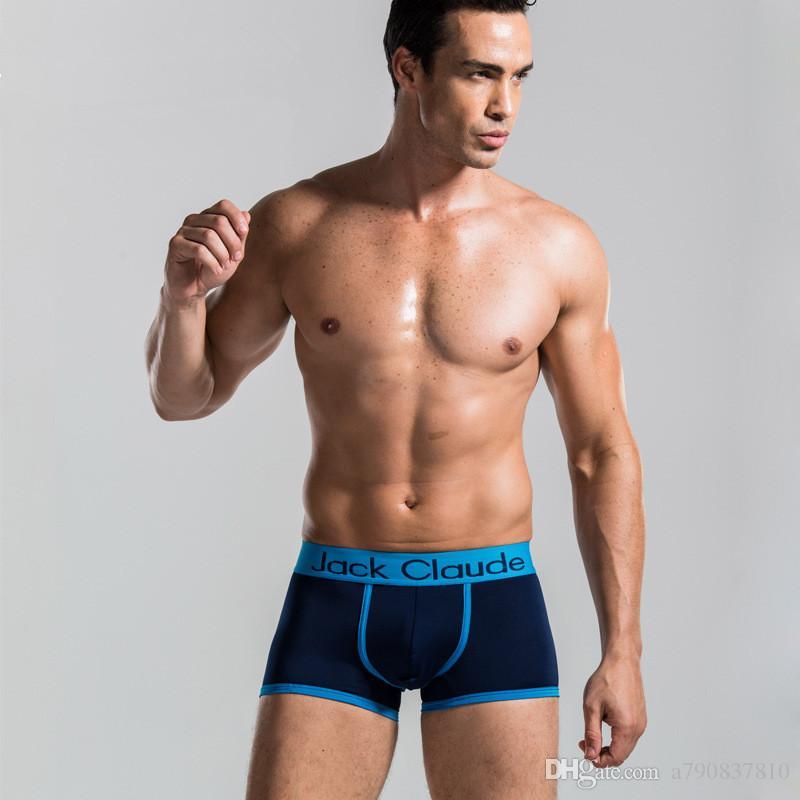100 PCS DHL Livraison Gratuite 2017 Nouveau Boxer Shorts Top qualité hommes Célèbre Marque Sous-vêtements / Sous-vêtements Sexy / Sous-vêtements Hommes 6 Couleurs Cueca
