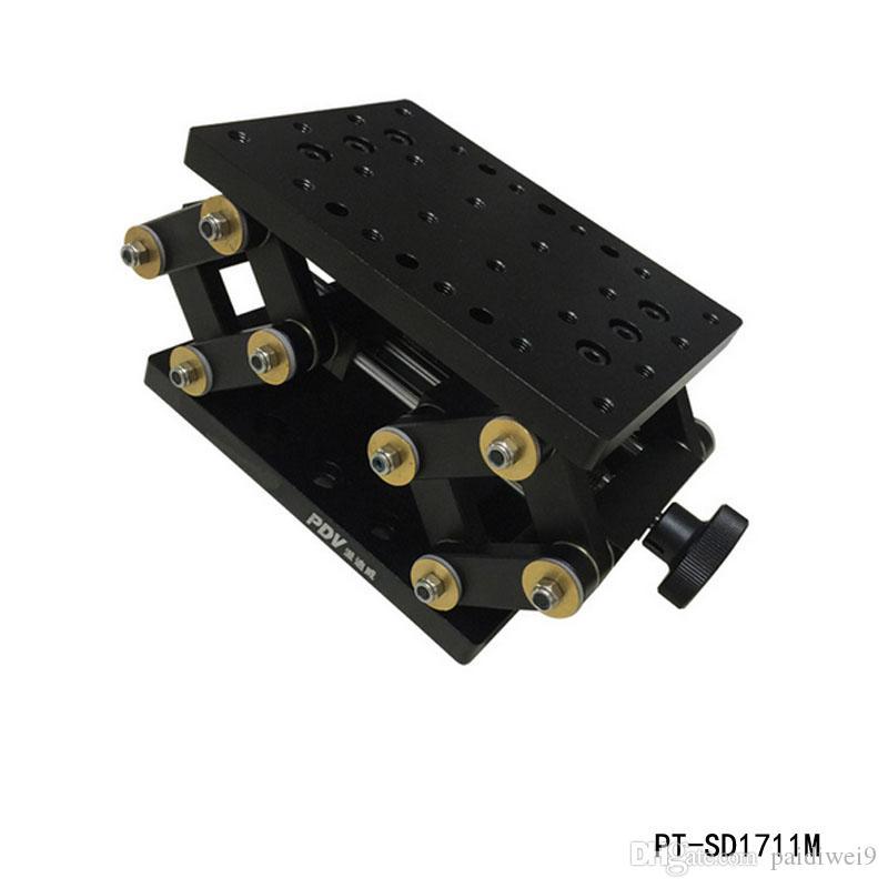 정밀 수동 리프트 Z 축 수동 랩 잭 수직 이동 스테이지 엘리베이터 광학 슬라이딩 리프트 55mm 트래블 PT-SD1711M