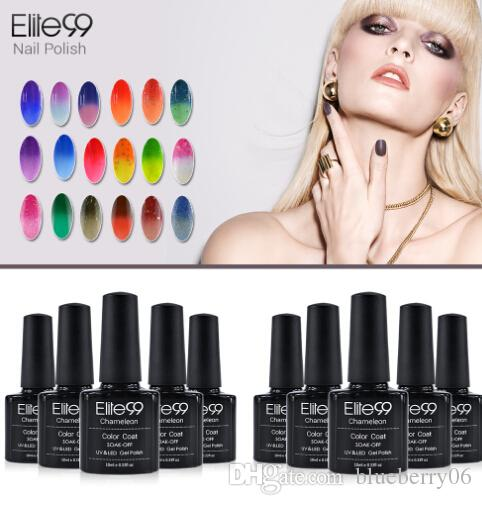 5 pieces Elite99 Chameleon Temperature Change Color UV Gel Lacquer Professional Beauty Choices Colored Nail Gel Pick One Color from 51