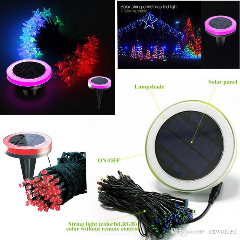 Solar fairy string lights 10m 100pcs colourful waterproof leds string light for outdoor christmas party lawn lamp