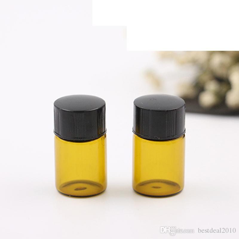 2ml braun bernsteinfarbene Glasfläschchen kleine Mini ätherisches Öl Flasche mit Orifice Reducer und Cap kleine Flaschen