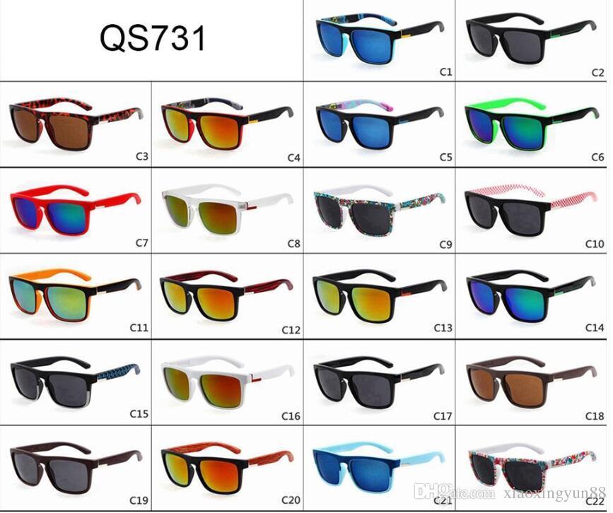 ALL'INGROSSO - Quick Fashion Sunglasses Occhiale da sole da spiaggia per uomo, in acciaio, colore argento 22 colore