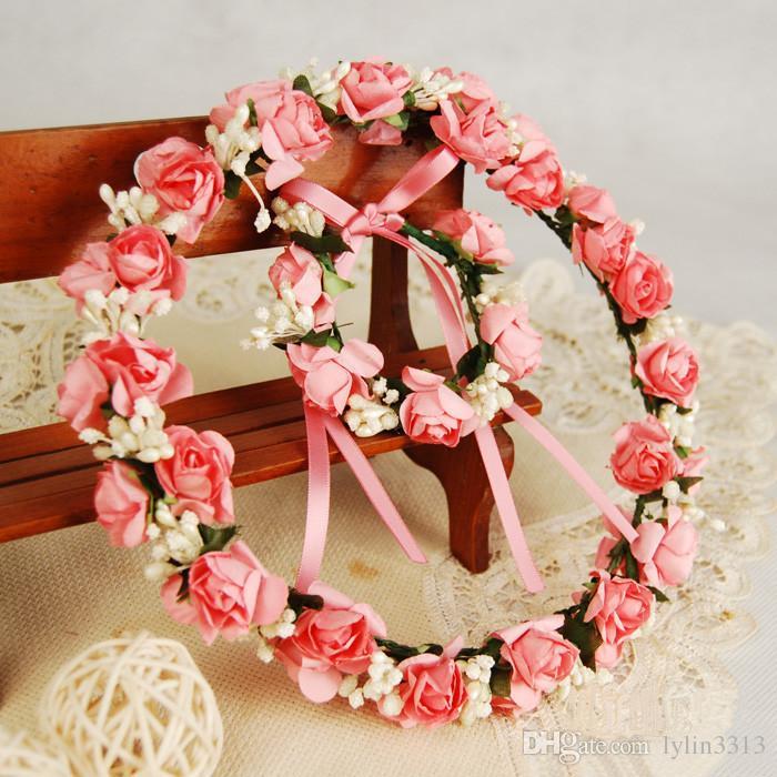 Nouvelle Arrivée De Mariée Bandeau Couronne Bracelet Ensemble Guirlande De Cheveux De Mariée Floral Mode Accessoires De Cheveux 10 pcs En Gros