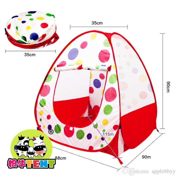 Pretty Princess Children Tent Game House Ball Pool Tent Baby Crawling Toy House