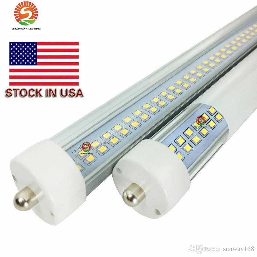 t8 led boru 8ft Tek Pin FA8 Çift Taraflı 72W LED Floresan Tüpler Işık 85-265V etsuyuna ışıkları