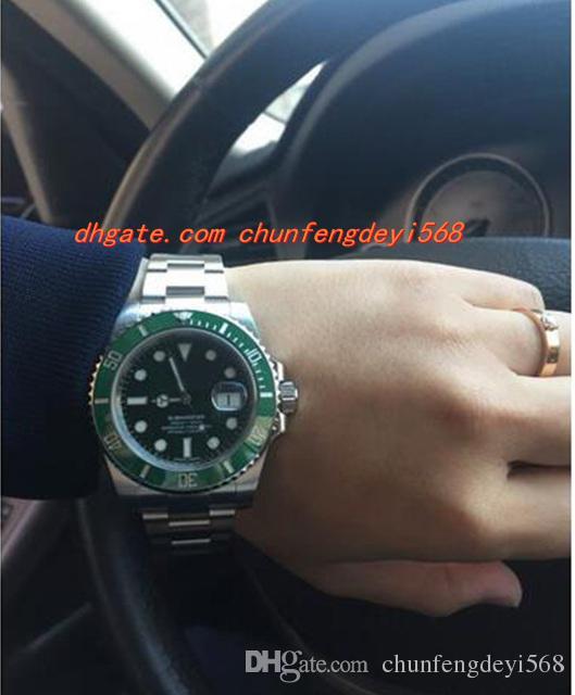Arbeiten Sie ursprüngliches Kasten-Qualitäts-Saphirglas 40mm 116610 keramische grüne Bewegung ETA 2836 automatische Herrenuhr-Uhren um