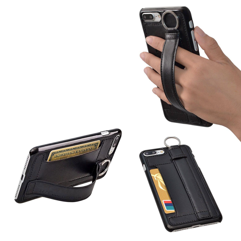 غلاف القضية TFY مع حامل بطاقة حزام اليد ل iPhone 7 iPhone 7 زائد