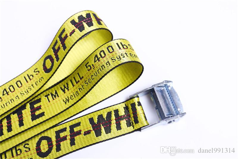 taglia 40 90a44 889c2 2017 New Fashion Off White Belt For Men Or Women'S Hiphop Canvas Belt Long  Style OW Metal Women Belt Virgil Abloh Industria Nocona Belts Men Online ...