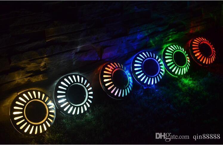 방수 야외 태양 LED 매장 조명 태양 잔디 / 벽 램프 UFO 조명 보안 빛 정원 장식 6 색