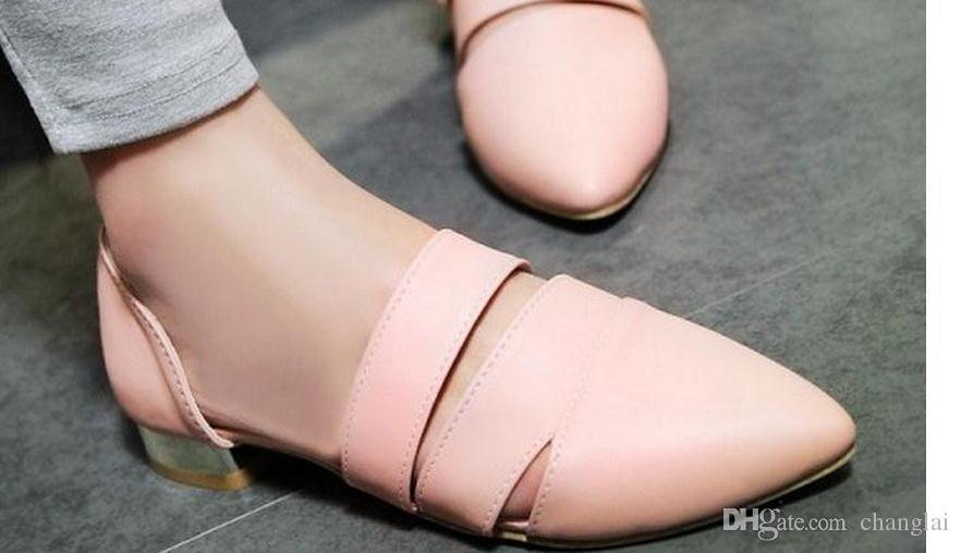 I nuovi sandali piatti 2016 donne baotou joker scavano fuori le scarpe in estate FuRuiSource