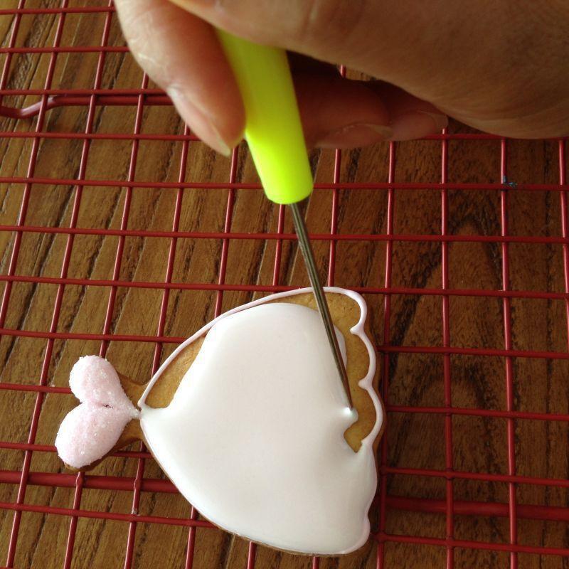 الجملة-1pcs اختبار كعكة إبرة البسكويت أدوات الخبز بسكويت فولاذي غير قابل للصدأ