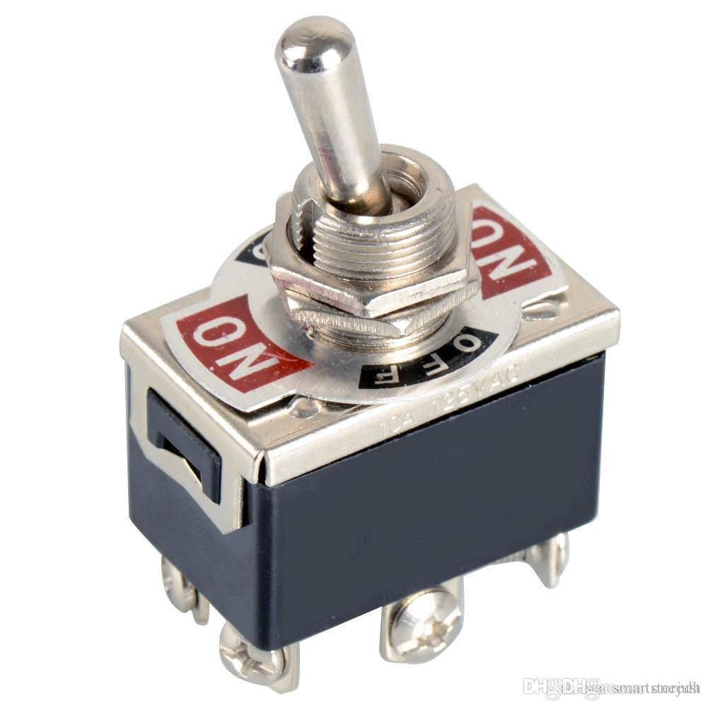 1xBlack Switch a 6 pin DPDT ON-OFF-ON Interruttore 15A 250V Mini interruttori E-TEN1322 B00099 SOLO