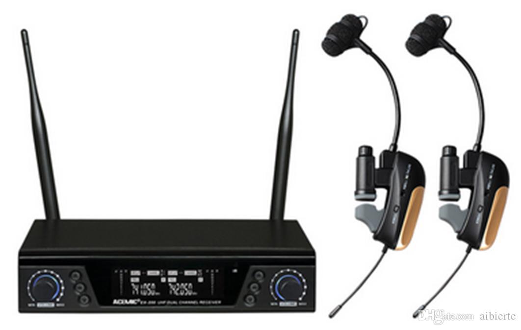 New True diversity Dual Channel Professional saxophone wireless microphone EX-200/ST-1 IR sync 80M operating range