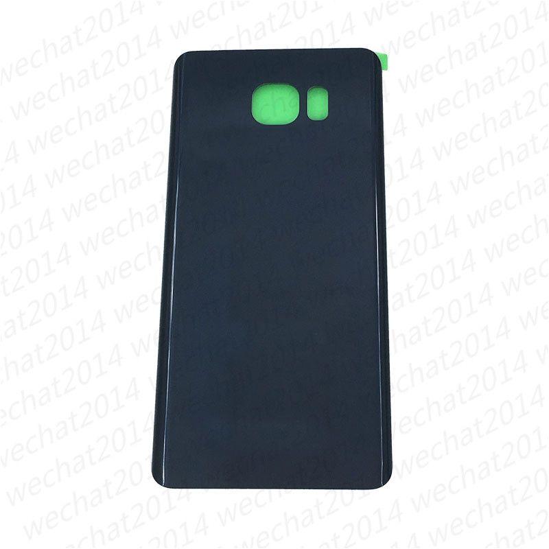OEM Pil Kapı Arka Konut Kapak Cam Kapak Samsung Galaxy S6 G920P S6 kenar Artı G925P G928P Not 5 N920P Yapıştırıcı Sticker ile