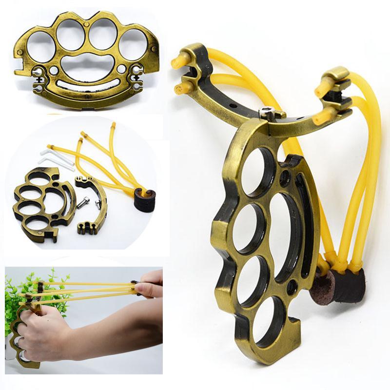 المهنية للطي المعادن الصيد حبال نحاس المفصل أدوات الصيد المنجنيق في الهواء الطلق أدوات مع جودة المطاط (الذهب)
