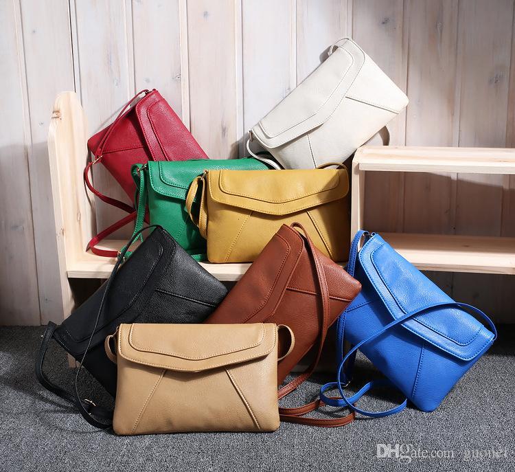 Bolsa de verano Messenger Quality Sobre Bolsas de hombro Señoras Pequeñas Mujeres Top Bolsos Crossbody Sling Cuero Vintage Wrkhn