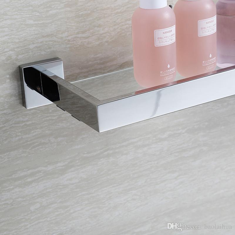 2018 Blh81805 Glass Bathroom Shelves Shampoo Holder Stainless Steel ...