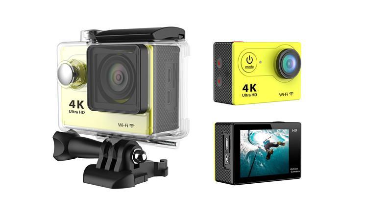 "2017 Original H9R 4K Ultra HD macchina fotografica di azione 2"" impermeabile macchina fotografica di sport 170D Wifi 30M subacquea Casco Cam Go Pro"