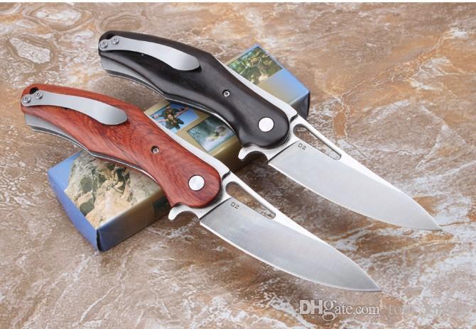 Новые Gambler D2 сталь (черное дерево и кунжутное дерево) 58-60HRC кемпинг охотничий нож складной нож 1шт бесплатная доставка