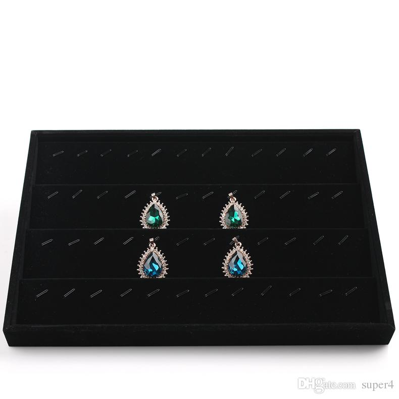 Jewelry Earrings Necklaces Tray BLACK Showcase 1 Inch Height