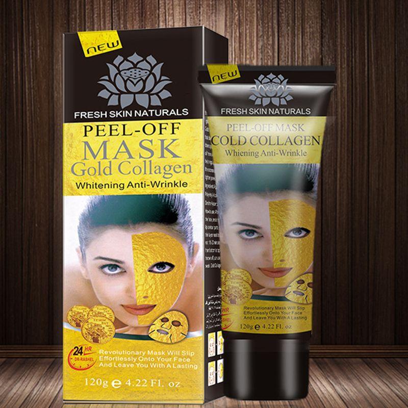 Peel Off Face Masks Gold Collagen Facials Mask Face Mask Crystal Gold Powder Anti Wrinkle Mask Skin Care 120ml