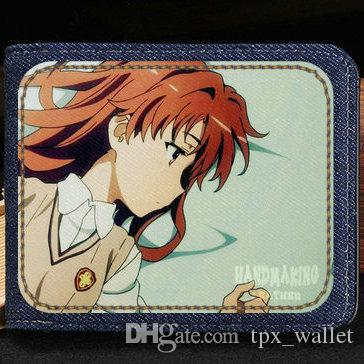 Only my railgun wallet Official visual book anime purse Hot cartoon short cash note case Money notecase Leather burse bag Card holders