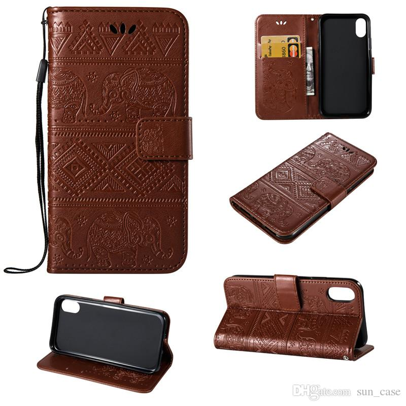 Elephant Skin Cover For Samsung Galaxy J1 J2 J3 J5 J7Prime Note 3 A3 A5 S3 i9190 S4 PU Leather Stand Wallet With Rope Card Slots Cases 10pcs