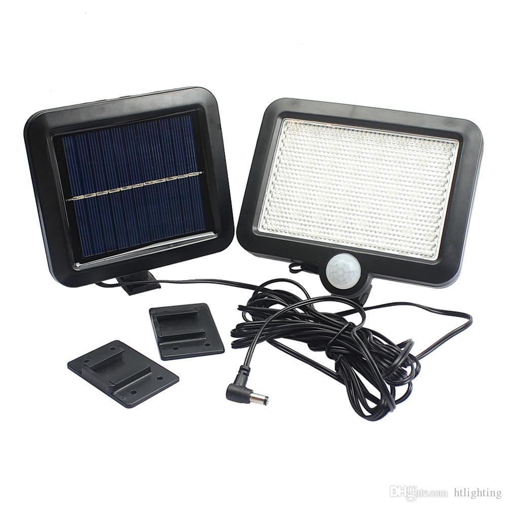10pcs bianco freddo caldo bianco 56 LED LED Solar Powered PIR corpo sensore di movimento solare proiettori giardino lampade da parete di sicurezza esterna lampada