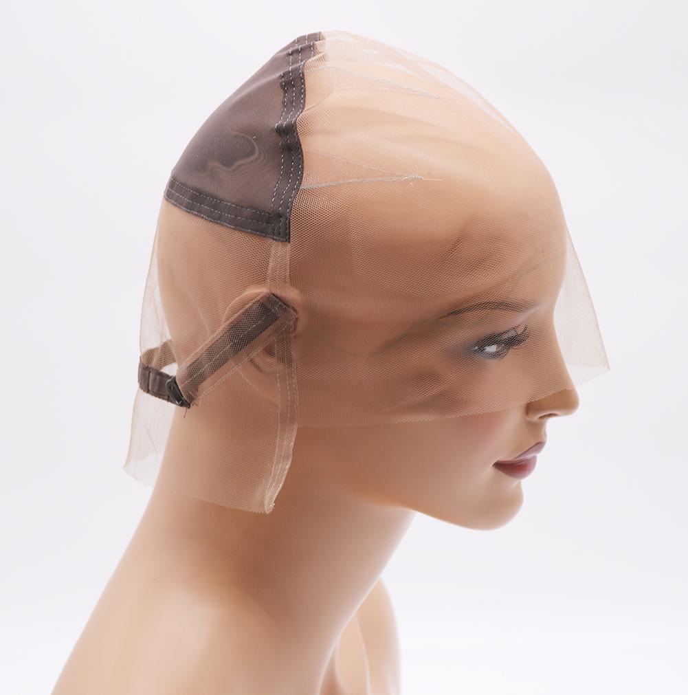 DIY 글루리스 풀 레이스 가발을 만들기위한 가발 모자 스트랩과 귀에 스트랩과 귀를 가진 스위스 레이스 헤어 네트