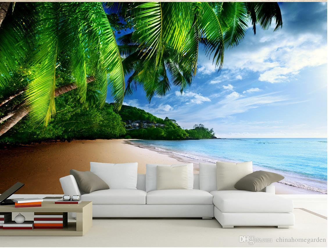 top classic 3d european style coconut beach view hd tv backdrop top classic 3d european style coconut beach view hd tv backdrop fashion decor home decoration for