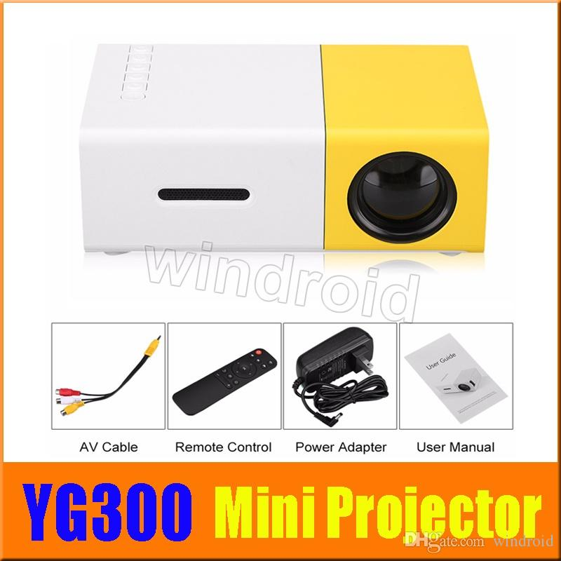 YG300 LED Portable Projector 400-600LM 3.5mm Audio 320 x 240 Pixels With HDMI USB AV SD Input Mini Projector Home Media Player