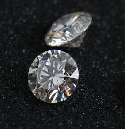 Most Brilliant F Color VS1 10mm White Moissanite Stones Synthetic Loose Moissanite Gemstone Beads Diamond Test Positive