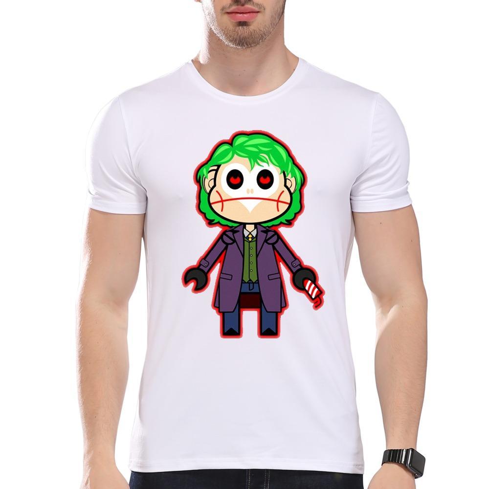Мужская одежда тройники дешевые мужские аниме персонаж печатных лето футболка с коротким рукавом О-образным вырезом модальные хипстер тройники белый