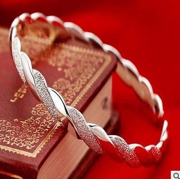 925 Sterling Silber Armreifen Für Frauen Männer Öffnen Hand Schmuck Böhmischen Mode Armband Chinesischen Stil Einstellbare Hohe Qualität 10 stücke