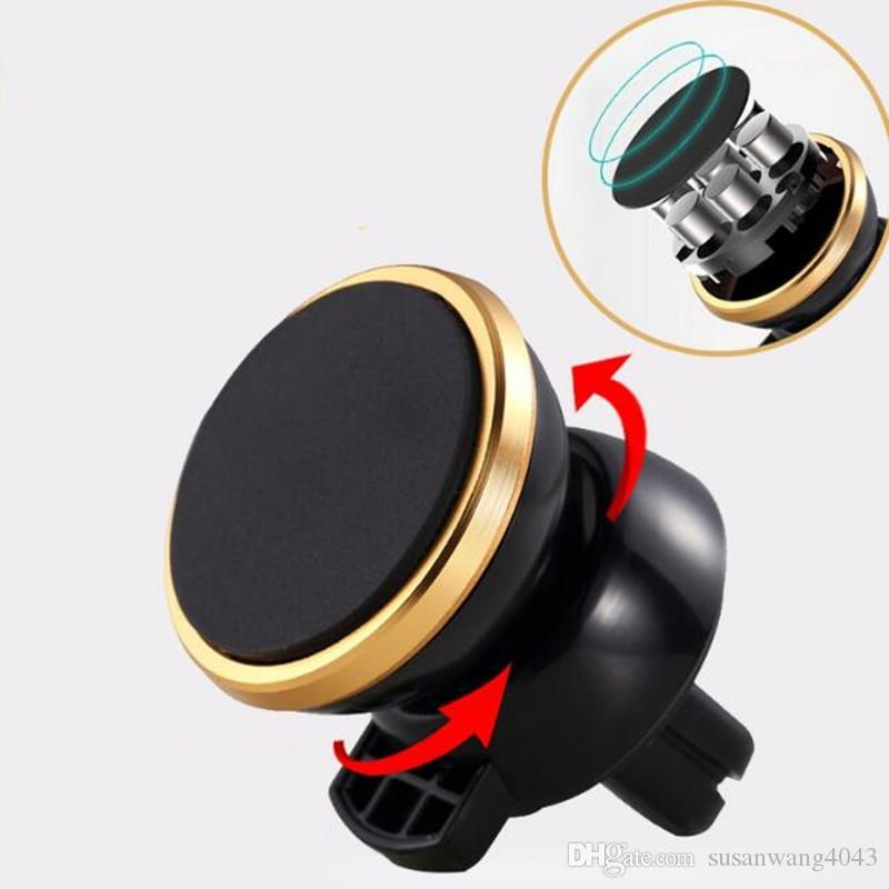 Car Mount Air Vent Magnetic Universal Car Mount cell Phone Holder for iPhone 7 6 6s plus GPS Magnet Mounting DHL free HDSZ007